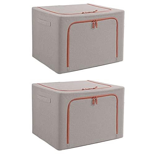 DaFei Cajas De Almacenaje Ropa Plegable 2PCS, 66L Bolsas De Almacenamiento Ropa, con Asa Y Ventana Transparente, Organizadoras para Edredones Fundas (Color : CC)