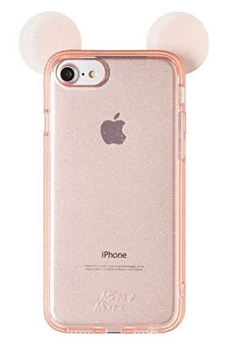 ディズニー ミッキーマウス iPhone SE 2020 第2世代/8/7/6s/6 ケース ラメ入り キラキラ TPU [ピンク]