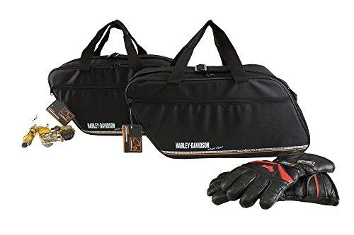 made4bikers Promotion: Borse interne per valigie moto adatte per modelli Harley-Davidson Road King valigia di cuoio