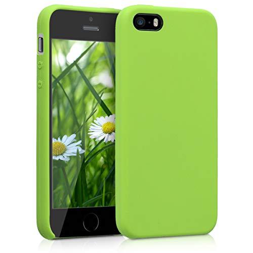 kwmobile Cover Compatibile con Apple iPhone SE (1.Gen 2016) / 5 / 5S - Custodia in Silicone TPU - Back Case Protezione Cellulare Verde