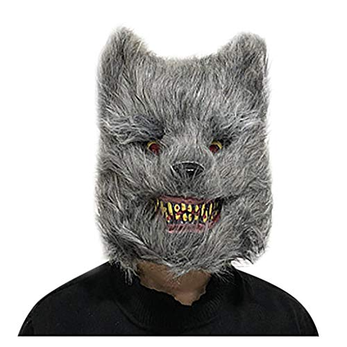 Yue668 - - Cara de peluche para Halloween, cara de animal o Halloween, sanglante horror, rostro de peluche, disfraz, disfraces, etc.