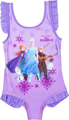 Mädchen Badeanzug Frozen 2 Einteiler Badeanzug Mädchen Anna Elsa und Olaf Alter 3 bis 10 Jahre Gr. 4-5 Jahre, violett
