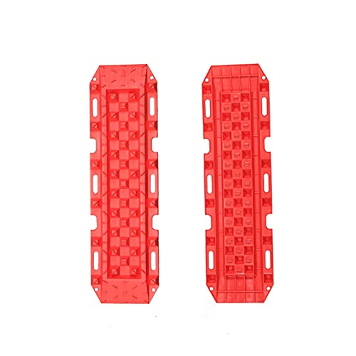 ERJIANG Recovery Traction Boards Emergency Tracks Traction Mat for 4x4 Off-Road Truck Mud, Sand, & Snow-2 Pcs Orange Track Tire Ladder