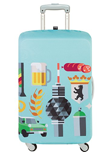 LOQI HEY STUDIO Berlin Luggage Cover - Kofferhülle