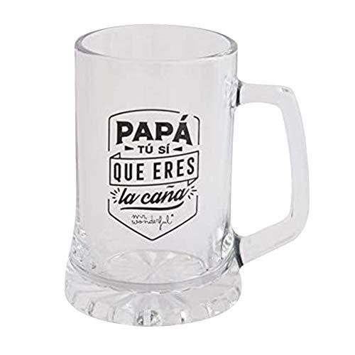 Dadaorou Bierkrug Bester Papa der Welt Geschenk für Papa perfekt als Vatertagsgeschenk 500ML Bierglas Bierseidel als Geburtstagsgeschenk für Männer Personalisierter Bierkrug das Vatergeschenk