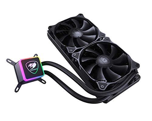 COUGAR Aqua High-Performance CPU Liquid Cooler with Vibrant and Dazzling RGB LED Pump Head and a Remote Controller (Aqua 240)