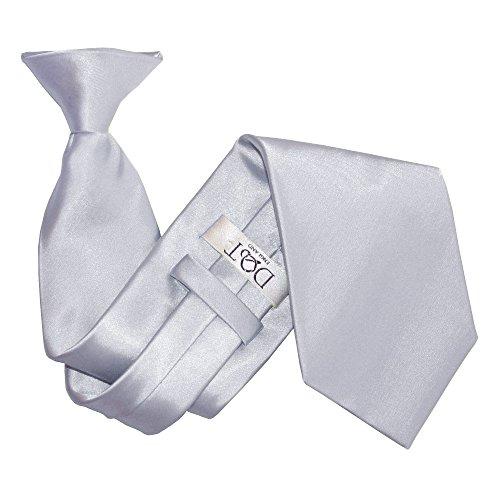 DQT Nouveauté Pince-Cravate Unie Homme Haute Qualité Argent