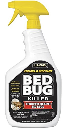 HARRIS Black Label Bed Bug Killer, Liquid Spray with Odorless and Non-Staining Extended Residual Kill Formula (32oz)