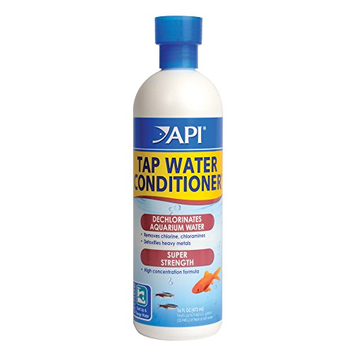 API TAP WATER CONDITIONER Aquarium Water Conditioner 16-Ounce Bottle, White (52C)