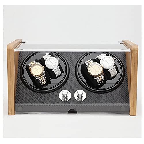 YF Enrollador de Reloj Automático de 4 Posiciones: Barril, Caja Giratoria, A Pilas O Adaptador de CA, Apto para Hombres Y Mujeres (Color : B)
