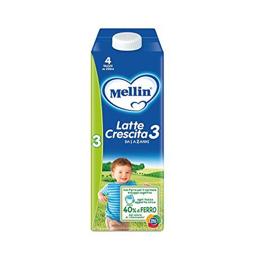 Mellin 3 Latte di Crescita Liquido - 6 Bottiglie da 1000 ml