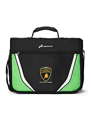 Automobili Lamborghini Accessories Sq. Corse Lamborghini Messenger Bag, Schwarz, One Size