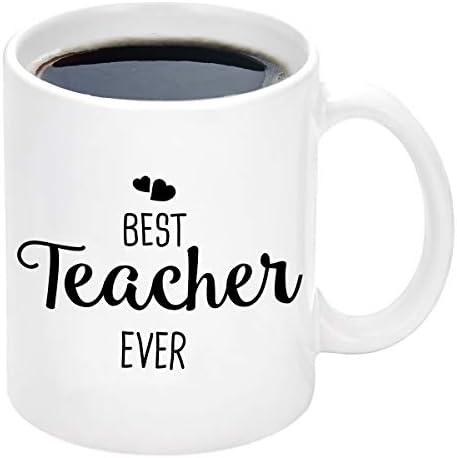 Best Teacher Gifts Best Teacher Ever Coffee Mug Teacher Appreciation Gifts for Women Birthday product image