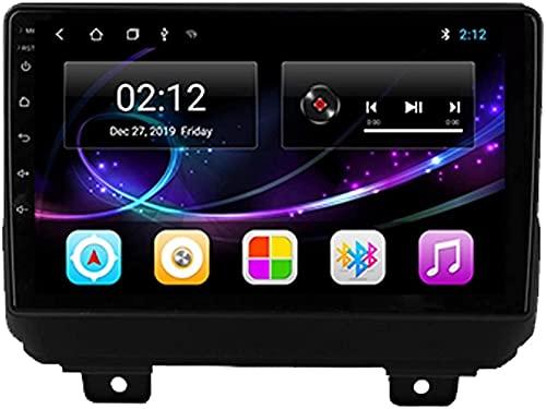 Android 10.0 Radio de navegación GPS compatible con Jeep Wrangler 2018-2019 Navegación GPS Unidad principal de 9 pulgadas Pantalla táctil HD Reproductor multimedia Video MP5 con WiFi DSP SWC Mirrorin