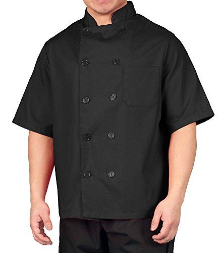 Black Lightweight Short Sleeve Chef Coat