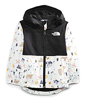 The North Face Toddler Zipline Rain Jacket TNF White Camping Friends Print 2T