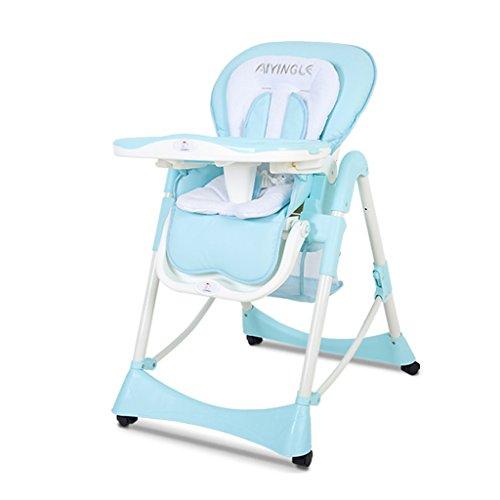 Chaise de Salle à Manger Chaise pour bébé Chaise pour Enfant Table à Langer Siège pour Enfant Chaise Pliante Portable pour Enfant Baby Booster Chair (Color : Blue, Size : 59cm*77cm*100cm)