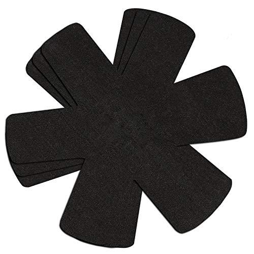 Pfannenschutz aus Filz - 3er Set - Pfannenschoner Separator für Töpfe und Pfannen, rutschfest, Stapelschutz für Töpfe, Pfannen und Schalen