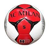 Mondo Sport -Pallone da Calcio Cucito A.c. Milan, Colore Bianco, Size 5, 92819...