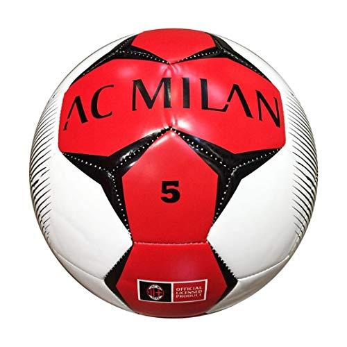 Mondo Sport -Pallone da Calcio Cucito A.c. Milan, Colore Bianco, Taglia Unica, 92819