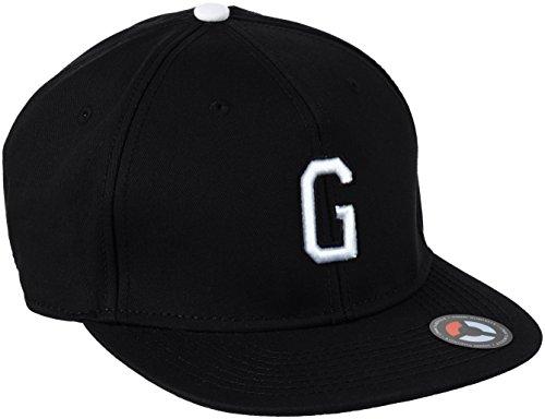 MSTRDS Unisex Letter Snapback G Baseball Cap, G Schwarz, Large