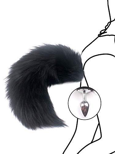 Queue-de cosplay Queue noire Fox Terrier artificielle