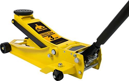 Torin TAM830008 JackBoss Hydraulic Super Duty Floor Jack: 3 Ton (6,000 lb) Capacity, Yellow
