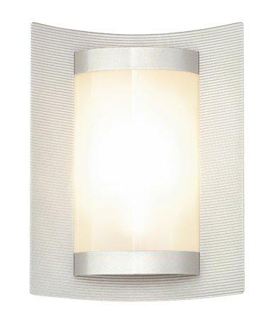Heibi TANGO Wandleuchte sandgestrahltes Glas Aluminium Steellife