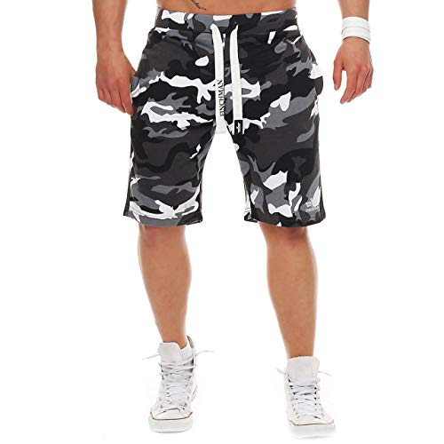 Finchman - Pantalones cortos de algodón para hombre Color gris. XXXXL