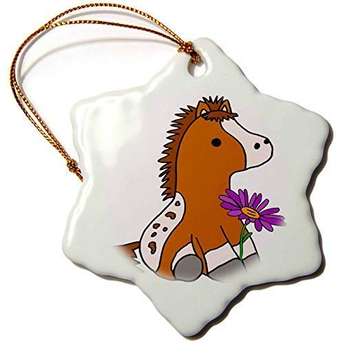 Dant454ty Baby Appaloosa Pony Horse With Purple Daisy Christmas Ornaments for the Home 2019 for Women Friends Kids Christmas Tree Ornament