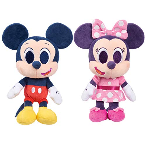 Disney Junior Music Lullabies 9-Inch Mickey Mouse & Minnie Mouse 2-Piece Plush Set, Amazon Exclusive