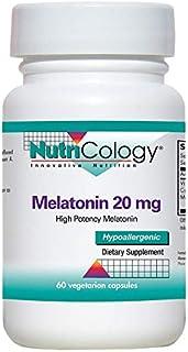 Nutricology Melatonin 20 Mg, Vegicaps, 60-Count
