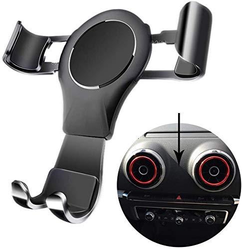 Soporte para teléfono para Audi A3 / S3, Soporte para teléfono de coche Soporte de ventilación de aire para Audi A3 / S3 2014-2019 Soporte para teléfono Air Vent para IOS Android 4-6.5 pulgadas