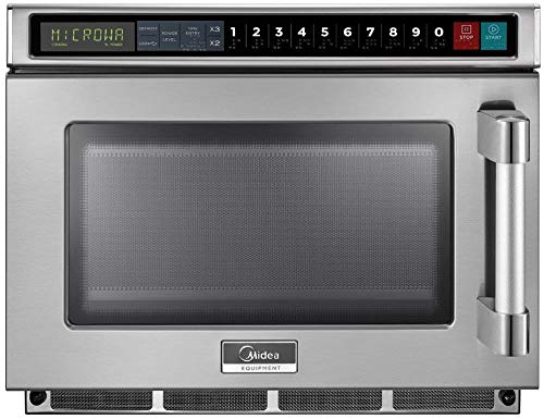 Midea Equipment 1217G1A Stainless Steel Stackable Commercial Microwave Oven, 1200W