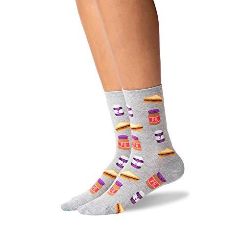 Hot Sox Damen-Socken mit Erdnussbutter & Gelee. - Grau - Medium