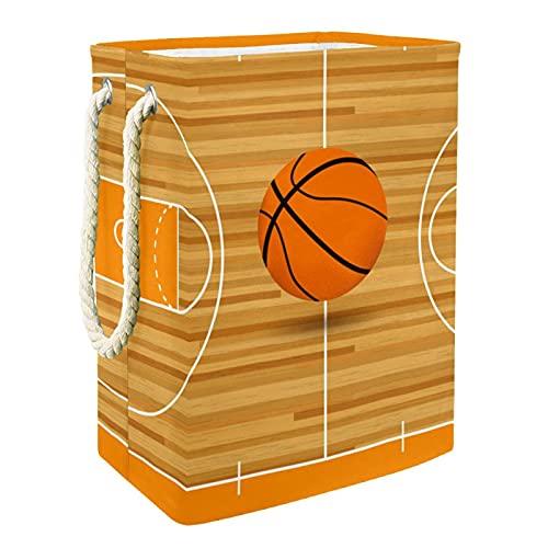 Cesta De Almacenamiento Cancha de baloncesto Cesto de Lavandería Impermeable Contenedor Almacenamiento Plegable Con asa Para Dormitorio Sala de Estar Baño 49x30x40.5 cm
