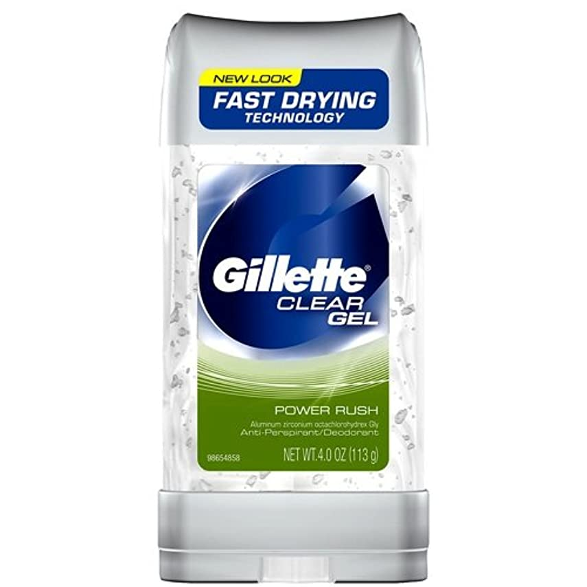 アラーム一時停止絶望Gillette Anti-Perspirant Clear Gel Power Rush 120 ml (並行輸入品)