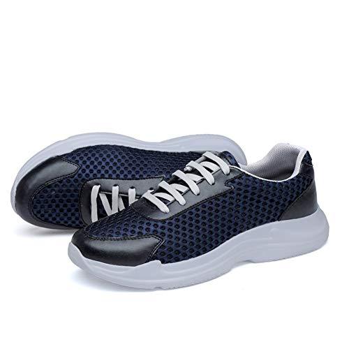 WFBD-CN Zapatos de Hombre Calzado Deportivo Calzado Deportivo for Hombres Estilo de Malla Material de Malla Tejido Hueco Textura Ligero Flexible Transpirable Zapatos de Hombre atléticos
