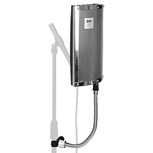 LyxPro VRI-40 Portable Acoustic Isolation Instrument Shield, Sound Absorbing, Reflection Panel with Heavy Duty Gooseneck