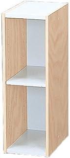 Marca Amazon - Movian Librería modular con 2 estantes en MDF Beige 20 x 29 x 60 cm