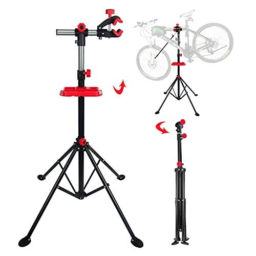 LSMK Soporte Bicicletas Soporte de Reparación de Bicicletas Ajustable, Soporte de Trabajo Profesional de Metal para Mantenimiento de Bicicletas para Bicicletas de Montaña de Carretera, Estable