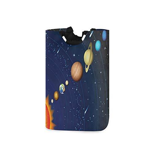 COFEIYISI Wäschesammler Wäschekorb Faltbarer Aufbewahrungskorb,Sonnensystem mit Sonne Uranus Venus Jupiter Mars Pluto Saturn Neptun,Wäschesack - Wäschekörbe - Laundry Baskets
