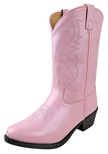 Smoky Mountain Boots Denver Cowboystiefel für Kinder aus Leder für Jungen und Mädchen, Pink (rose), 2.5 Little Kid