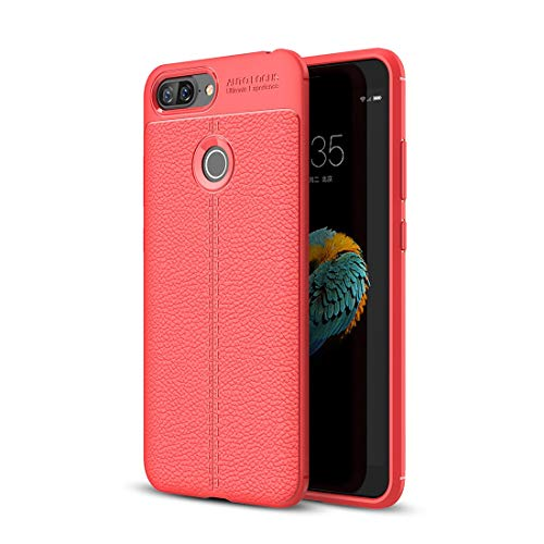 DESHENG Smartphone Protective Clips for Lenovo S5 Litchi Texture Soft TPU Protective Back Cover Case (Black) Phone Bag (Color : Red)