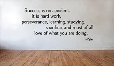 Blinggo Success is no accident Pele removable Vinyl Wall Decal Home Décor