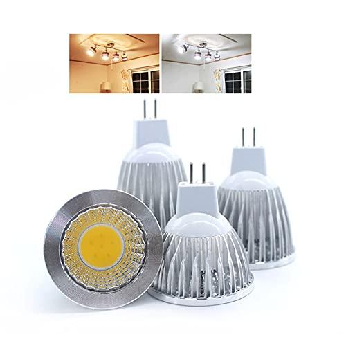 GHC LED Bombillas 1Polla Nuevas Lámparas de COB Chip LED MR16 COB 9W 12W 15W Dimmable LED Publique Spotlight Caliente Fresco Blanco MR 16 12V Bulb Lamp (Color : Cold White, Talla : 15w)