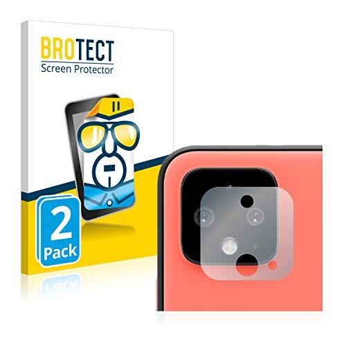 BROTECT Schutzfolie kompatibel mit Google Pixel 4 (Kamera) (2 Stück) klare Displayschutz-Folie