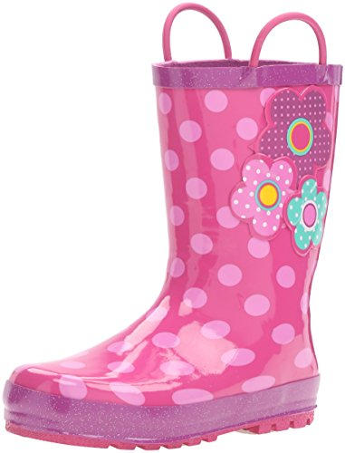 Western Chief Girls Printed Rain Boot, Flower Cutie, 11 M US Little Kid