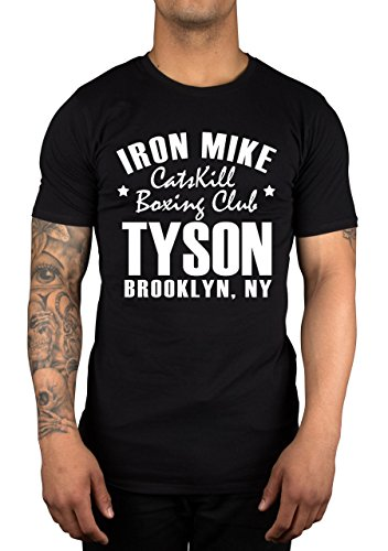 New Iron Mike Tyson, Catskill Gym, Brooklyn, New York, Boxing T-shirt Top HEAVYWEIGHT CHAMP (XL/Zusätzliches Groß: 18 - 20, BLACK/Schwarz)
