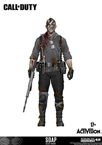 Call of Duty McFarlane John Soap MacTavish Figurine Bloody Edition avec DLC 15 cm